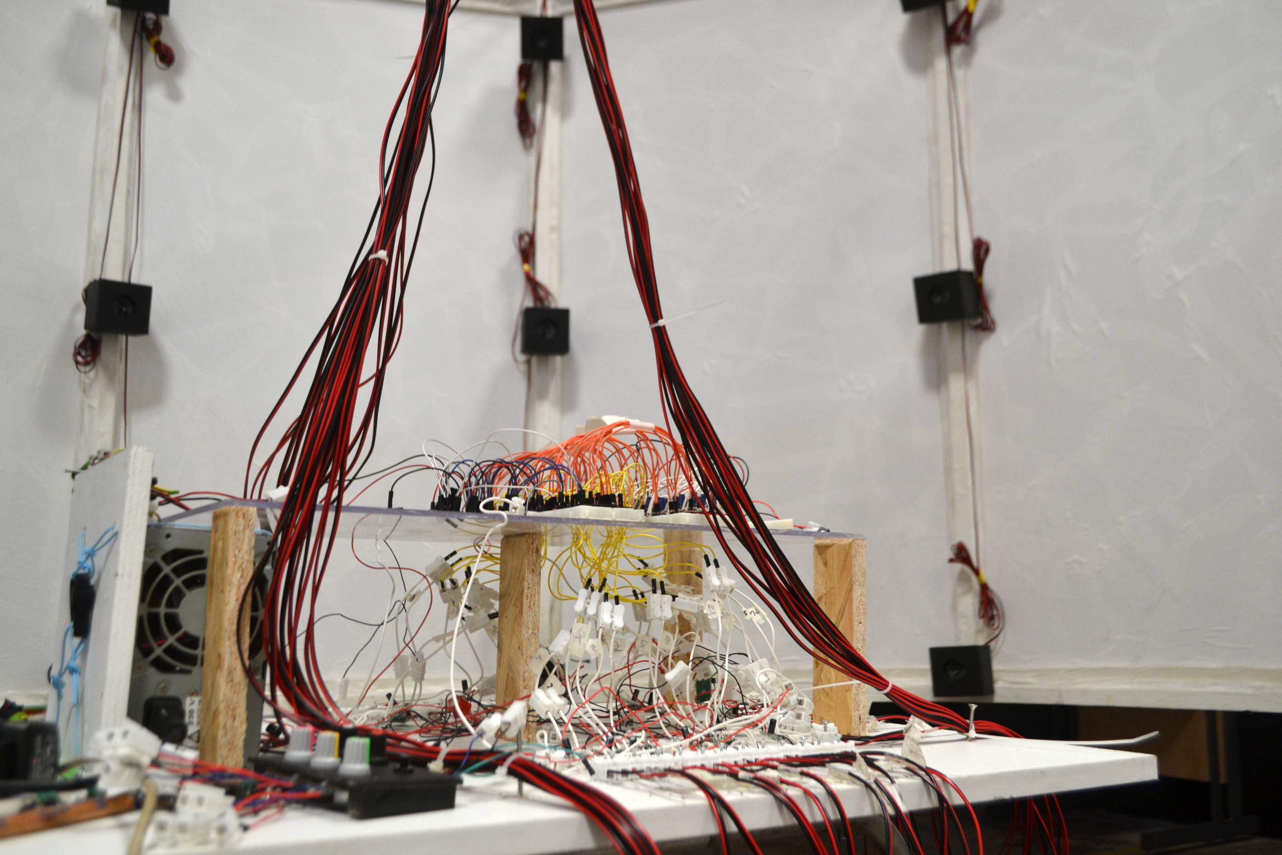 Thomas Bigot Electrical Wiring Channels 36 Sound Spatialisation System Protoype Collaborative Project With Frdric Villeneuve Sguier